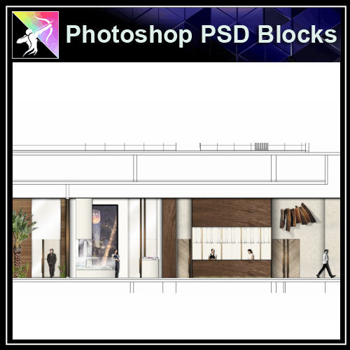 ★Interior Design Plan & Elevation Elements-Photoshop PSD Blocks V.6 - Architecture Autocad Blocks,CAD Details,CAD Drawings,3D Models,PSD,Vector,Sketchup Download