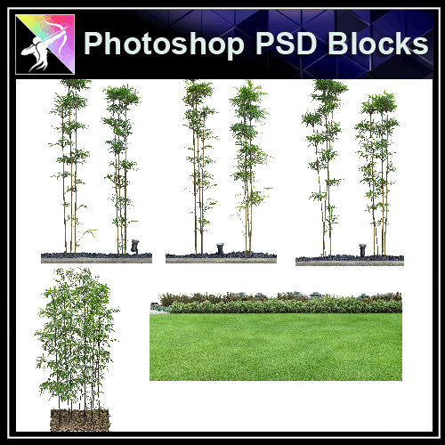 ★Photoshop PSD Landscape Blocks-Trees & Bushes Blocks V.6