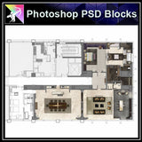 ★Interior Design Plan & Elevation Elements-Photoshop PSD Blocks V.15