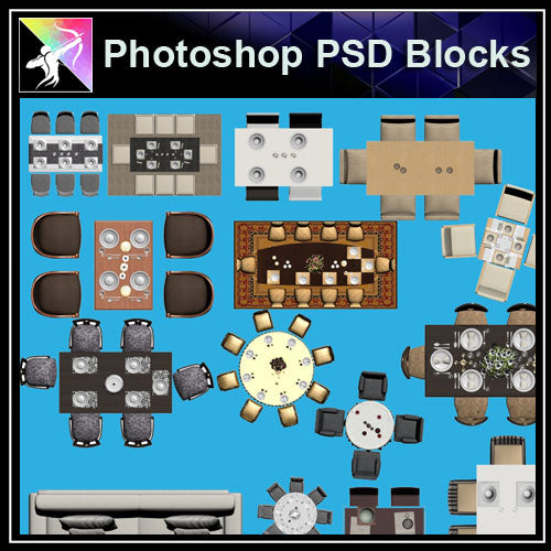 ★Interior Design Plan Photoshop PSD Blocks V.8 - Architecture Autocad Blocks,CAD Details,CAD Drawings,3D Models,PSD,Vector,Sketchup Download