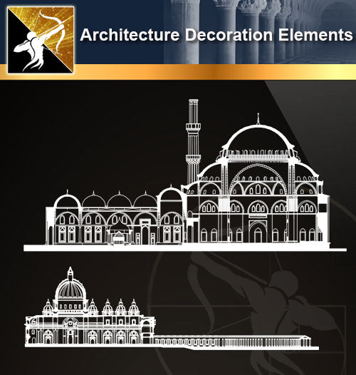 Free CAD Architecture Decoration Elements 16 - Architecture Autocad Blocks,CAD Details,CAD Drawings,3D Models,PSD,Vector,Sketchup Download