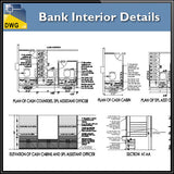 【Architecture CAD Projects】Bank Interior Design CAD Blocks,Elevation Drawings