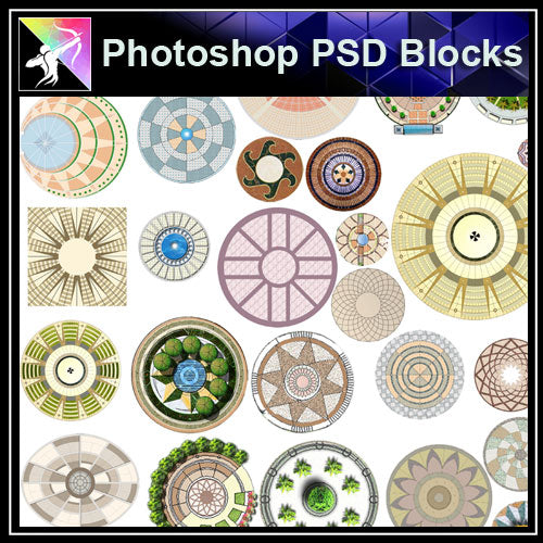 Photoshop PSD Landscape Public Square Blocks (Best Recommanded!!) - Architecture Autocad Blocks,CAD Details,CAD Drawings,3D Models,PSD,Vector,Sketchup Download