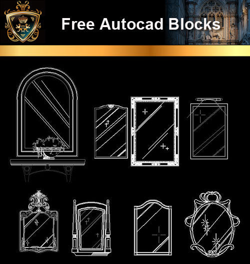 ★Free CAD Blocks-Mirror Blocks
