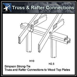★Free CAD Details-Truss & Rafter Connections (Iso) - Architecture Autocad Blocks,CAD Details,CAD Drawings,3D Models,PSD,Vector,Sketchup Download