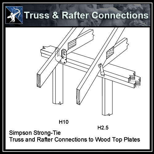 ★Free CAD Details-Truss & Rafter Connections (Iso)