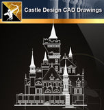 Castle Design CAD Drawings 1 - Architecture Autocad Blocks,CAD Details,CAD Drawings,3D Models,PSD,Vector,Sketchup Download