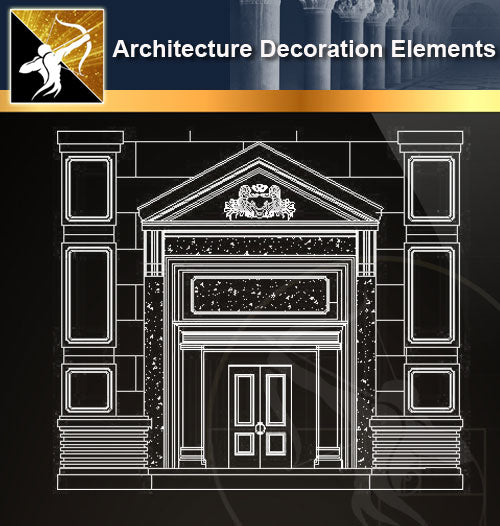 ★Architectural Decorative CAD Elements 04 - Architecture Autocad Blocks,CAD Details,CAD Drawings,3D Models,PSD,Vector,Sketchup Download