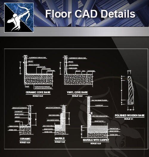 【 Floor Details】Flooring CAD Details Collection - Architecture Autocad Blocks,CAD Details,CAD Drawings,3D Models,PSD,Vector,Sketchup Download