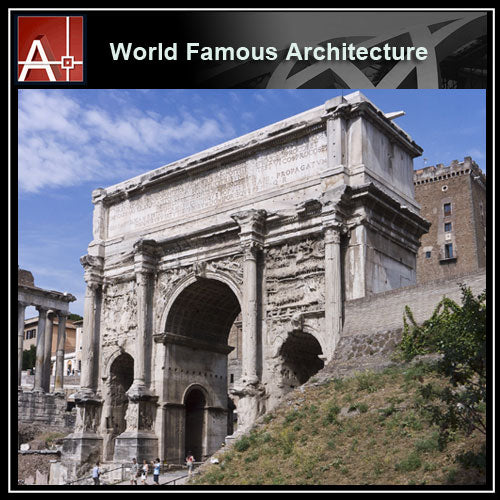 【Famous Architecture Project】Arch Of Septimius SeverusArch Of Septimius Severus-Architectural 3D SKP model - Architecture Autocad Blocks,CAD Details,CAD Drawings,3D Models,PSD,Vector,Sketchup Download