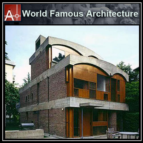 【Famous Architecture Project】Le Corbusier -Maisons Jaoul-Architectural CAD Drawings - Architecture Autocad Blocks,CAD Details,CAD Drawings,3D Models,PSD,Vector,Sketchup Download