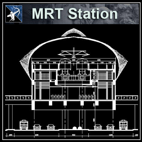 【Architecture CAD Projects】MRT Station Design CAD Blocks,Plans,Layout V1