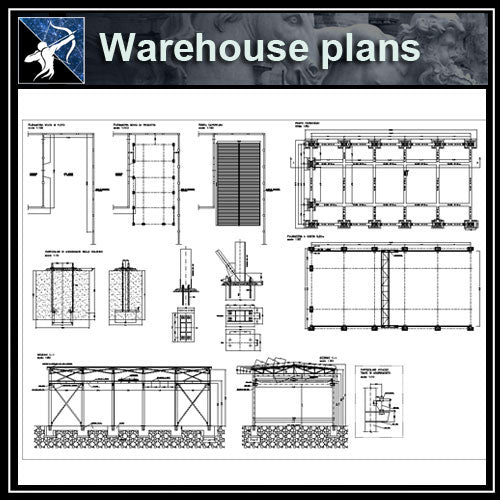 【Architecture CAD Projects】Warehouse,Factory CAD Elevation,Blocks,Details Collection