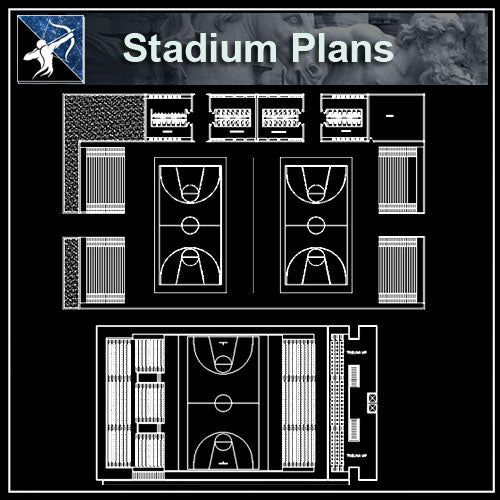 【Architecture CAD Projects】 Stadium CAD plans ,CAD Blocks