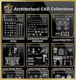【Architectural CAD Drawings Bundle】(Best Collections!!Get Total 79 Collections for only $99!) - Architecture Autocad Blocks,CAD Details,CAD Drawings,3D Models,PSD,Vector,Sketchup Download