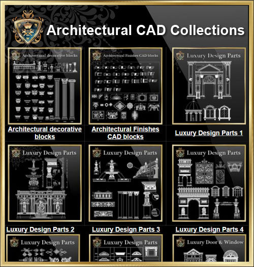【Architectural CAD Drawings Bundle】 (Beste Sammlungen !!)