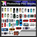 Photoshop PSD Landscape Car Blocks - Architecture Autocad Blocks,CAD Details,CAD Drawings,3D Models,PSD,Vector,Sketchup Download