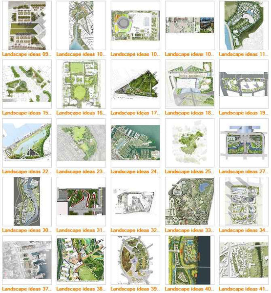 ★Top 100 Landscape Presentation ideas V1 (Free Downloadable) - Architecture Autocad Blocks,CAD Details,CAD Drawings,3D Models,PSD,Vector,Sketchup Download