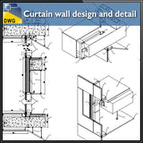 【CAD Details】Curtain Wall design and detail in autocad dwg files