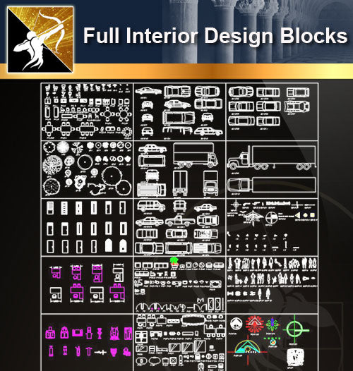 ★Full Interior Design Blocks 6