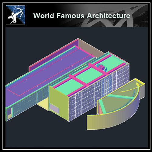 【World Famous Architecture CAD Drawings】Koshino housing CAD 3d model