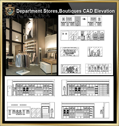 ★【Shopping Centers,Store CAD Design Elevation,Details Elevation Bundle】@Shopping centers, department stores, boutiques, clothing stores, women's wear, men's wear, store design-Autocad Blocks,Drawings,CAD Details,Elevation - Architecture Autocad Blocks,CAD Details,CAD Drawings,3D Models,PSD,Vector,Sketchup Download