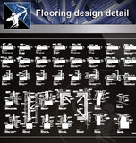 【 Floor Details】Flooring design detail cad files - Architecture Autocad Blocks,CAD Details,CAD Drawings,3D Models,PSD,Vector,Sketchup Download