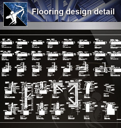 【 Floor Details】Flooring design detail cad files