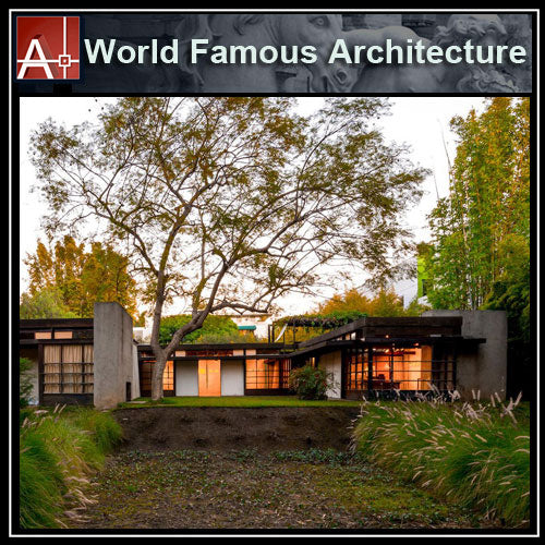 【Famous Architecture Project】Schindler House-Rudolf Schindler-Architectural CAD Drawings