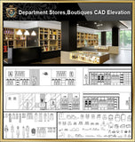 ★【Shopping Centers,Store CAD Design Elevation,Details Elevation Bundle】V.2@Shopping centers, department stores, boutiques, clothing stores, women's wear, men's wear, store design-Autocad Blocks,Drawings,CAD Details,Elevation - Architecture Autocad Blocks,CAD Details,CAD Drawings,3D Models,PSD,Vector,Sketchup Download