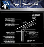 【Roof Details】Free Top of Wall Detail - Architecture Autocad Blocks,CAD Details,CAD Drawings,3D Models,PSD,Vector,Sketchup Download