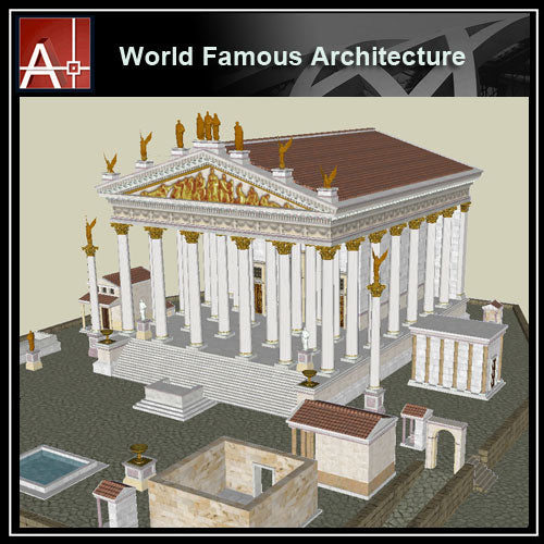 【Famous Architecture Project】Temple Of Jupiter Optimus Maximus-Architectural 3D SKP model - Architecture Autocad Blocks,CAD Details,CAD Drawings,3D Models,PSD,Vector,Sketchup Download