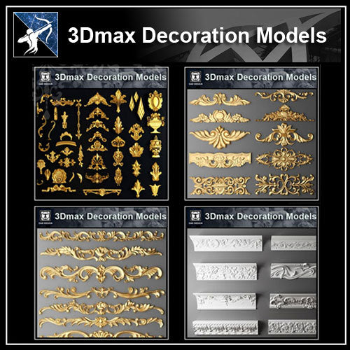 ★【Full 3D Max Decoration Models Bundle】(Recommanded!!)