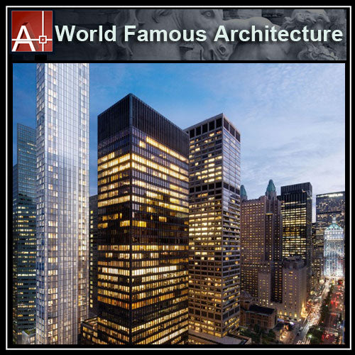 【Famous Architecture Project】Seagram Building-Mies van der Rohe-Architectural CAD Drawings - Architecture Autocad Blocks,CAD Details,CAD Drawings,3D Models,PSD,Vector,Sketchup Download