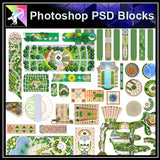 Photoshop PSD Landscape Layout Plan Blocks (Best Recommanded!!) - Architecture Autocad Blocks,CAD Details,CAD Drawings,3D Models,PSD,Vector,Sketchup Download
