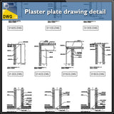 【CAD Details】Plaster plate drawing detail in autocad dwg files