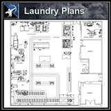【Architecture CAD Projects】Laundry CAD plan CAD Blocks