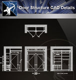 【Door Details】Door Structure Details - Architecture Autocad Blocks,CAD Details,CAD Drawings,3D Models,PSD,Vector,Sketchup Download