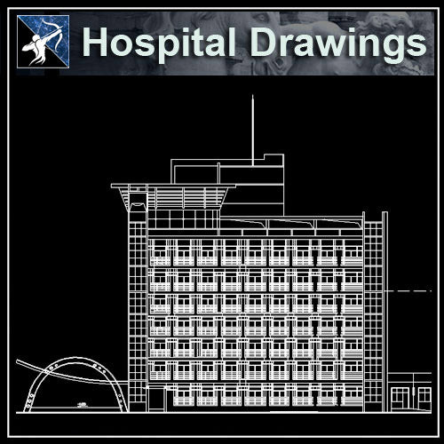 【Architecture CAD Projects】Hospital Design CAD Blocks,Plans,Layout