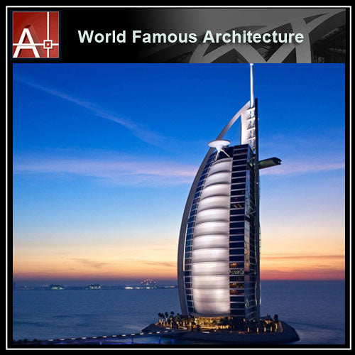 【Famous Architecture Project】Burj Al Arab Jumeirah Sketchup 3D model-Architectural 3D SKP model - Architecture Autocad Blocks,CAD Details,CAD Drawings,3D Models,PSD,Vector,Sketchup Download