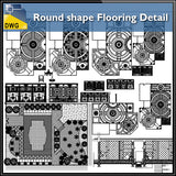 【CAD Details】Round shape Flooring CAD Details - Architecture Autocad Blocks,CAD Details,CAD Drawings,3D Models,PSD,Vector,Sketchup Download