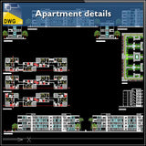 【Architecture CAD Projects】Apartment Design Details
