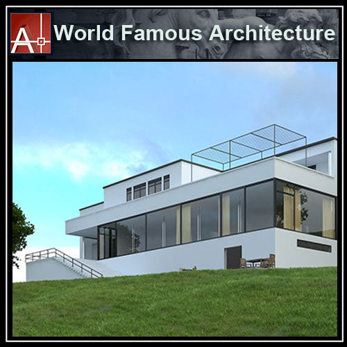 【Famous Architecture Project】Tugendhat House-Mies Van Der Rohe-CAD Drawings - Architecture Autocad Blocks,CAD Details,CAD Drawings,3D Models,PSD,Vector,Sketchup Download
