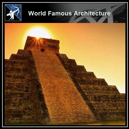 【Famous Architecture Project】Pyramid chichen itza CAD Drawing-Architectural 3D CAD model