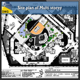 【CAD Details】Site plan of Multi Storey CAD Details - Architecture Autocad Blocks,CAD Details,CAD Drawings,3D Models,PSD,Vector,Sketchup Download