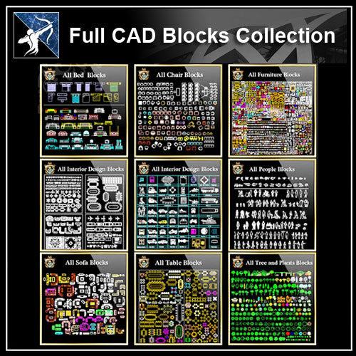 ★【Over 20000+ CAD Blocks Bundle】(Best Recommanded) - Architecture Autocad Blocks,CAD Details,CAD Drawings,3D Models,PSD,Vector,Sketchup Download