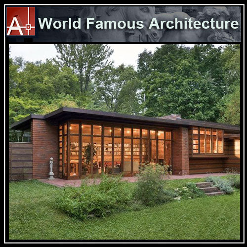 【Famous Architecture Project】Herbert and Katherine Jacobs House-Frank Lloyd Wright-Architectural CAD Drawings - Architecture Autocad Blocks,CAD Details,CAD Drawings,3D Models,PSD,Vector,Sketchup Download
