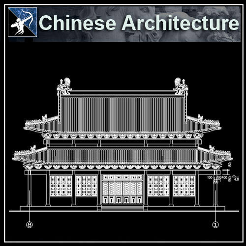【Architecture CAD Projects】Chinese Architecture Design CAD Blocks,Plans,Layout V3