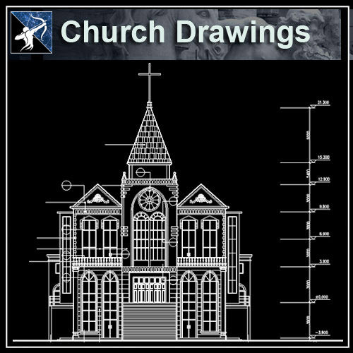 【Architecture CAD Projects】Church Architecture Design CAD Blocks,Plans,Layout V1