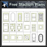 【Architecture CAD Projects】 Stadium CAD plan ,CAD Blocks